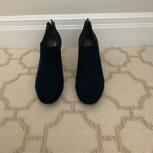 Aerosoles Navy Suade Booties
